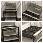 Collage of 5 Burner Cooker