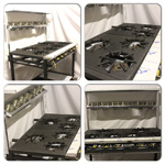 Collage of 6 Burner Cooker (Solid)
