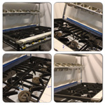 Collage of 6 Burner Cooker