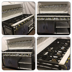 Collage of 9 Burner Cooker